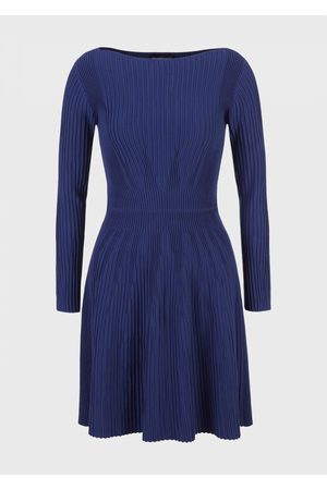 Emporio Armani Women Knitted Dresses - Knitted Dress with Ribbing