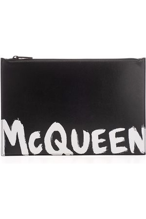 Alexander McQueen MEN'S 5604721NT0B1070 LEATHER POUCH