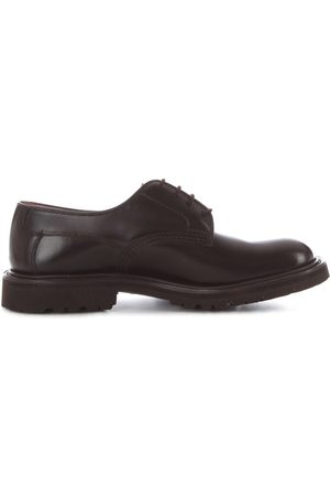 TRICKERS MEN'S WOODSTOCKDARKBROWN LEATHER LACE-UP SHOES