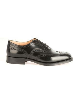 Church's MEN'S BURWOODBLACK LEATHER LACE-UP SHOES
