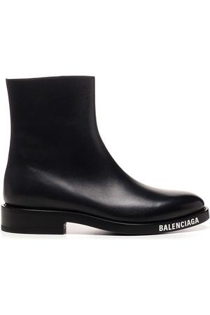 Balenciaga Men Ankle Boots - MEN'S 590717WA7201000 LEATHER ANKLE BOOTS
