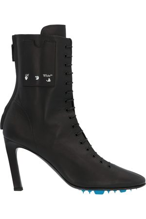 OFF-WHITE WOMEN'S OWIA248E20LEA0011000 LEATHER ANKLE BOOTS