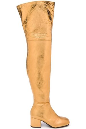 Marni WOMEN'S STMS005306P358700Y65 LEATHER BOOTS