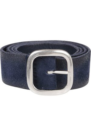 Orciani Men Belts - MEN'S U07800BLUE SUEDE BELT