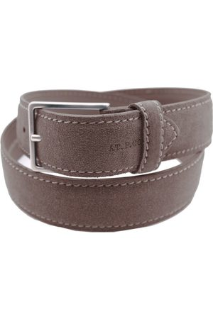 At.p.Co MEN'S S40335BROWN SUEDE BELT