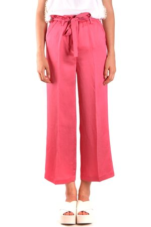 Twin-Set TWIN-SET WOMEN'S MCBI35759 FUCHSIA VISCOSE PANTS