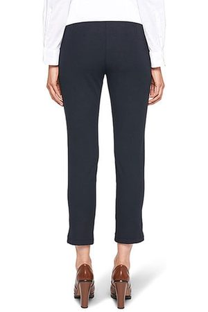 Marc Cain Women Stretch Pants - Ankle-Length Stretch Trousers in Midnight