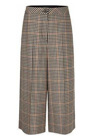 Marc Cain Collections Checked Trousers in Pure New Wool PC 81.39 W35