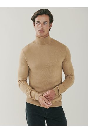 MrQuintessential Piccadilly Silk and Cashmere Roll Neck Sweater - Camel