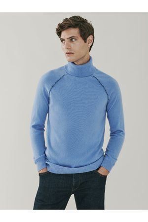 MrQuintessential Mayfair Detail Cashmere Roll Neck Sweater - Soft