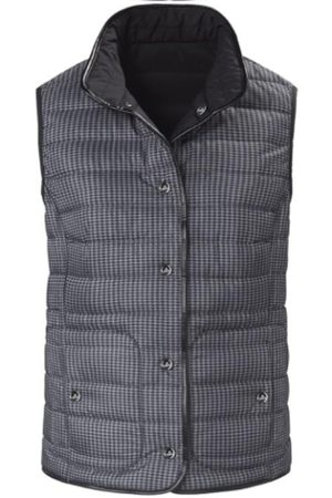 Basler Women Gilets - And Charcoal Grey Quilted Gilet 1208110101