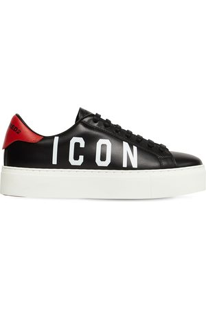 Dsquared2 35mm New Tennis Leather Sneakers