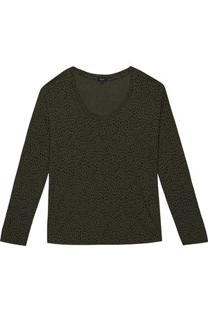 Rails Women Long Sleeve - Colby Long Sleeve Top - Olive Mini Spotted
