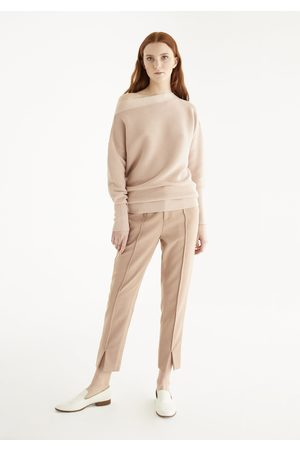Paisie Boat Neck Ribbed Jumper