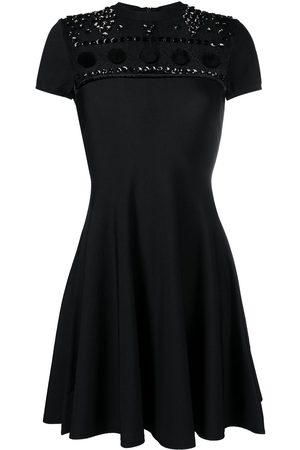 VALENTINO Women Party Dresses - Polka dot embroidery knitted dress
