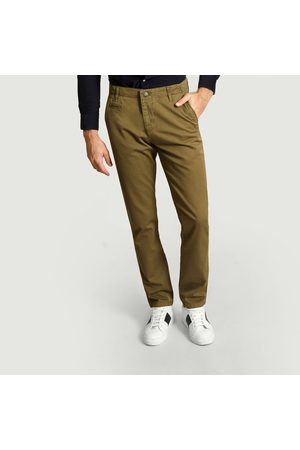 Knowledge Cotton Apparal Men Chinos - Chuck The Brain Chinos Burned Olive Knowledge Cotton Apparel