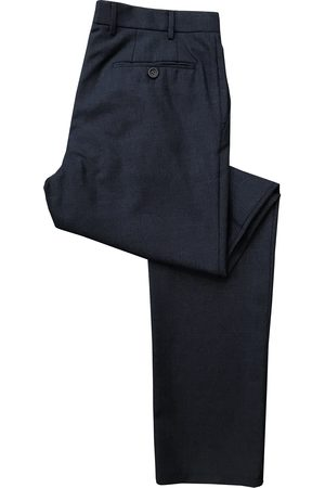 CANALI Dark Micro Patterned Regular Fit Wool Trousers V1019 6R