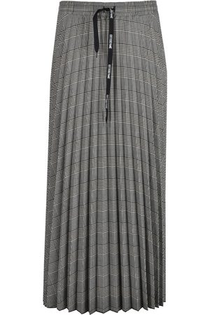 OTTOD'AME Ott Houndstooth Pleated Skirt