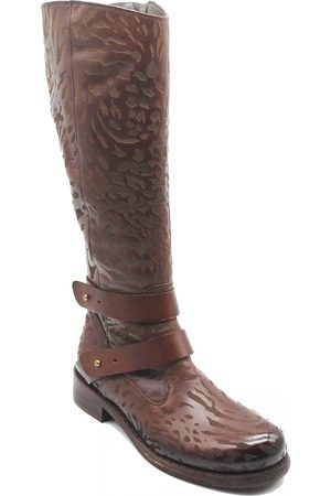 Women Knee High Boots - LONG TEXTURED BOOT - LIMITED EDITION