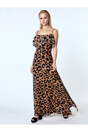 OUTLET Hayley Menzies Ikat Frill Belted Maxi Dress