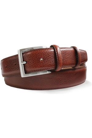 Robert Charles 1235 Grained Leather Belt in Tan