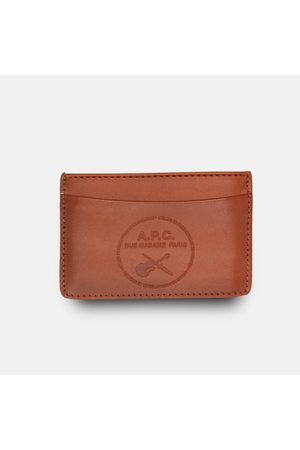 A.P.C. . Andre Guitare Card Holder Wallet - Noisette