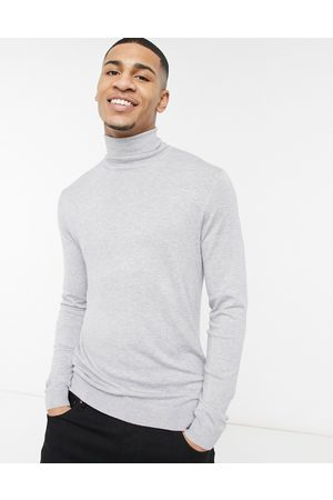 River Island Men Jumpers - Roll neck knitted jumper in