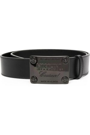 Moschino Logo plaque buckled belt
