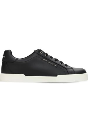 Dolce & Gabbana Girls Sneakers - Leather Lace-up Sneakers