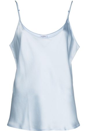 La Perla Scoop-neck satin cami top