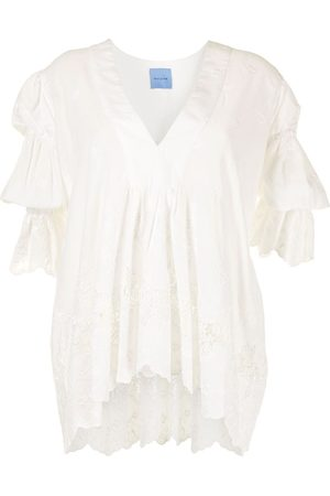 Macgraw Women Tunics - Elderflower embroidered tunic
