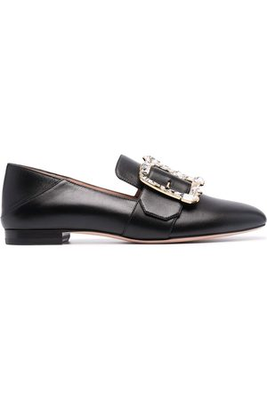 Bally Janelle square buckle loafers
