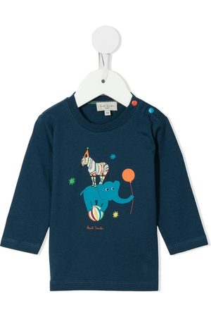 Paul Smith Long Sleeve - Circus cotton long-sleeved top