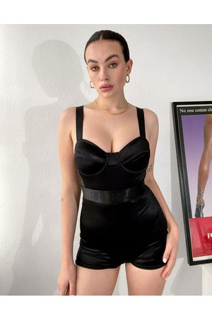 River Island Satin intimates cupped playsuit in