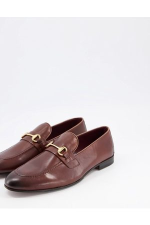 WALK LONDON Terry bar loafers in leather