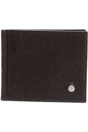 Orciani Pebbled effect logo plaque wallet