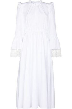 Giambattista Valli Lace trim cotton midi dress