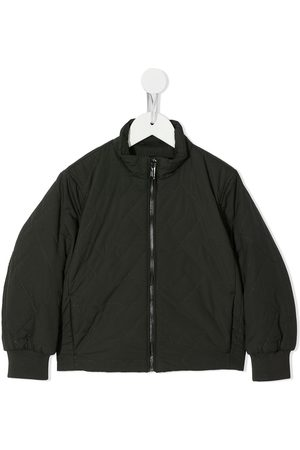 Emporio Armani Kids Quilted zip-up bomber jacket