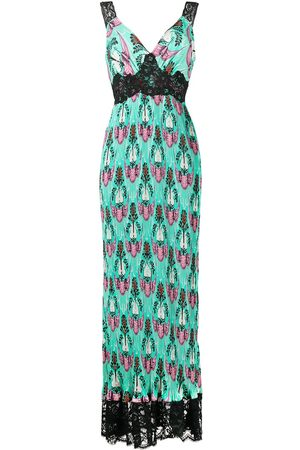 Paco rabanne Abstract print empire line maxi dress