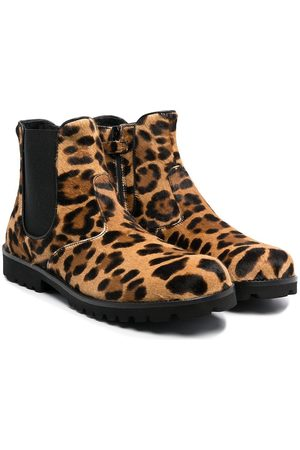 Dolce & Gabbana Ankle Boots - TEEN leopard-print boots
