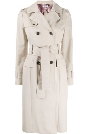 Thom Browne Women Trench Coats - Double-breasted waterproof trench coat