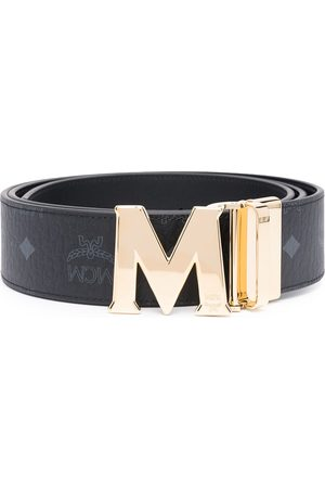 MCM Logo buckle faux leather belt