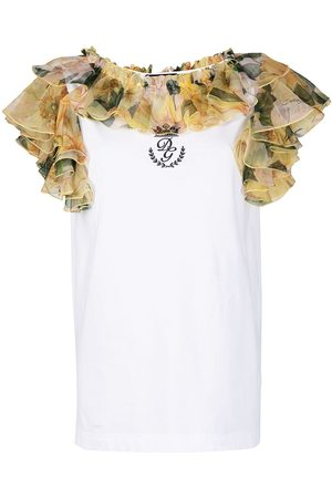 Dolce & Gabbana Floral ruffled vest top