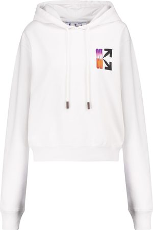 OFF-WHITE Logo cotton-jersey hoodie