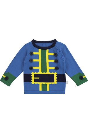 Stella McCartney Baby intarsia cotton sweatshirt