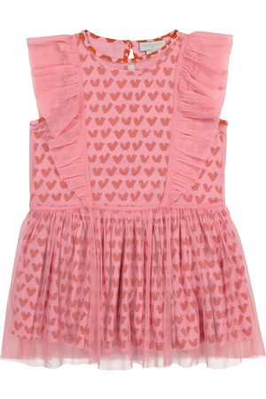 Stella McCartney Women Party Dresses - Convertible printed tulle and cotton dress