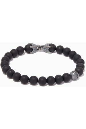 David Yurman Spiritual Diamonds & Onyx Beads Bracelet