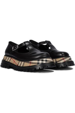 Burberry Women Loafers - Aldwych leather Mary Jane loafers