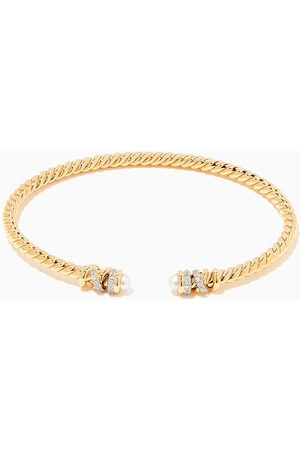 David Yurman Women Bracelets & Bangles - Petite Helena Diamond Bracelet with Pearls in 18kt Gold