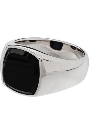 TOM WOOD Onyx square signet ring